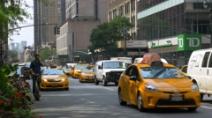 0574 UHD New York City, traffic and elettric scooter Stock Footage