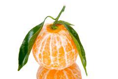 Mandarin orange isolated on a white background Stock Photos