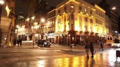 English Pub by night - stock footage