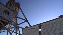 Broken Hill Junction mine pan from sign Stock Footage