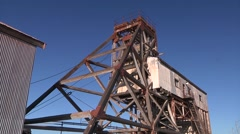 Broken Hill - Junction mine head from city side Stock Footage