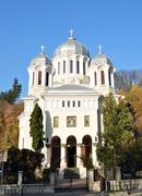 orthodox church buna vestire - stock photo