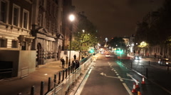 Driving through London at night great street views Stock Footage