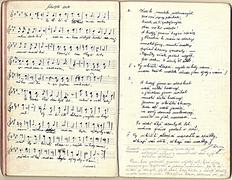 Sheet music and lyrics of 1920 Stock Photos