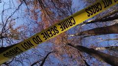 Crime Scene Tape | Vertical Spiral POV 3 - stock footage