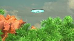 ufo in jungle aliens - stock footage
