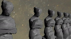 mysterious statues statue - stock footage