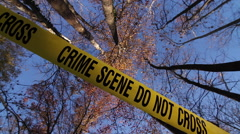 Crime Scene Tape | Vertical Spiral POV 4 Stock Footage