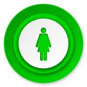 Female icon, female gender sign. Stock Illustration