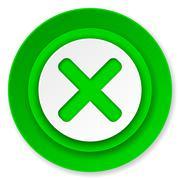 Cancel icon, x sign. Stock Illustration