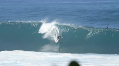 Tube ride at Pipeline Stock Footage