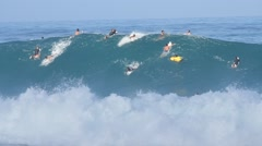 Wave at Pipeline Stock Footage