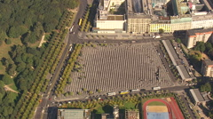 Aerial Shot Of Holocaust Memorial In Berlin Stock Footage