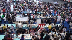People attend Festival for Anime and Manga Cosplay Stock Footage
