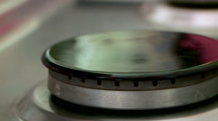 Gas ring on a stove Stock Footage