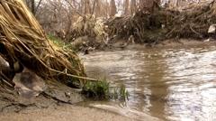 (Prefect Loop) Sandy Shallow Barren Creek Shot Aside Stock Footage