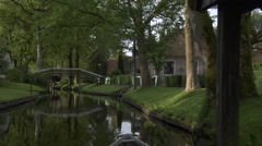 Giethoorn village by boat -  part 7 Stock Footage