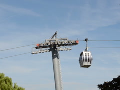 Ropeway booths. Related clips are in my portfolio in 1920x1080. Stock Footage