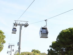 Ropeway in Barcelona. Related clips are in my portfolio in 1920x1080. Stock Footage