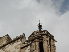 The house with chimeras, a gothic style. Related clips have in my portfolio HD. Stock Footage