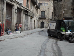 Gothic quarter in Barcelona. Related clips are in my portfolio in 1920x1080. Stock Footage