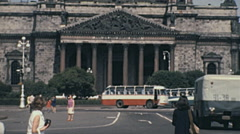 Leningrad 1970: street life in front of St. Isaac's Cathedral Stock Footage