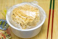 Chinese instant noodle soup Stock Photos