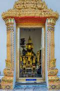 golden budha altar wat pho temple bangkok thailand - stock photo