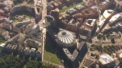 Potsdamer Platz 2012 Aerial shot Stock Footage