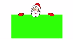 Happy santa claus over green blank. 4k animation. Stock Footage