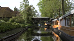 Giethoorn village by boat -  part 3 Stock Footage