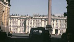 Leningrad 1970s: the Triumph Arch of the general staff building, Palace Square Stock Footage