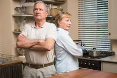 Senior couple having an argument Stock Photos