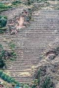 Pisac ruins peruvian andes  cuzco peru Stock Photos