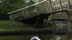 Giethoorn village by boat -  part 9 Stock Footage