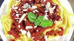 Pasta bake (seamless loopable) Stock Footage