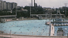 Moscow 1970s: Moskva Pool Stock Footage