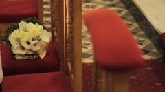 Bunch flower wedding Stock Footage