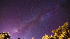 4k Timelapse of Milky Way. night sky stars. - stock footage