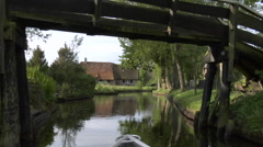 Giethoorn village by boat - part 10 Stock Footage