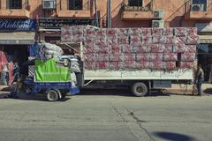 Transport trucks Marrakesh - stock photo