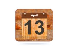April 13. Stock Illustration