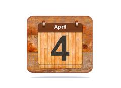 april 4. - stock illustration