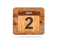 April 2. Stock Illustration