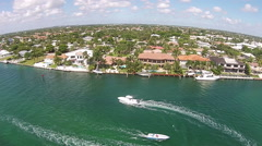 Waterway of Boca Raton aerial view - stock footage