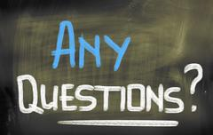 Stock Photo of Any Questions Concept