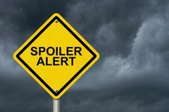 Spoiler alert warning sign Stock Photos