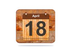 April 18. Stock Illustration