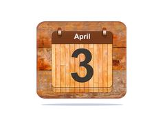 april 3. - stock illustration