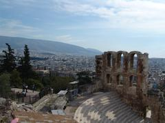 Ruins in athens Stock Photos